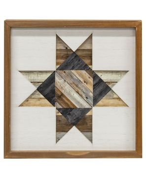 Picture of Framed Natural Barn Quilt