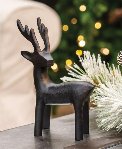 Picture of Cast Iron Standing Reindeer Figurine
