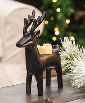 Picture of Cast Iron Reindeer Tealight Holder