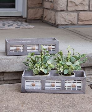 Picture of Graywashed Window Boxes, 2/Set
