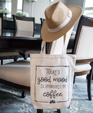 Picture of Today's Good Mood Canvas Tote