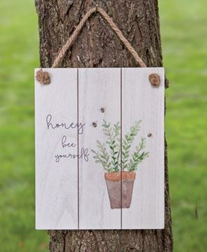 Picture of Honey Bee Yourself Distressed Shiplap Sign