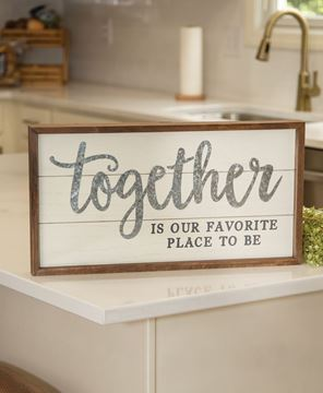 Picture of Together Is Our Favorite Place Shiplap Frame