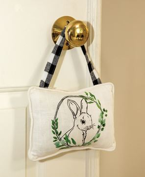 Picture of Bunny Floral Portrait Pillow Ornament