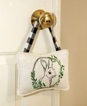 Picture of Bunny Floral Portrait Pillow Ornament