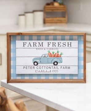 Picture of Farm Fresh Eggs & Carrots Shadowbox Sign