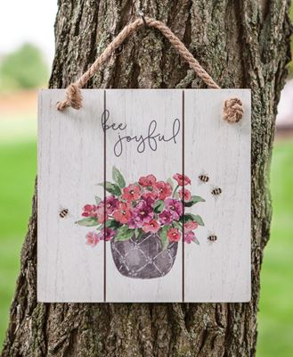 Picture of Bee Joyful Distressed Shiplap Sign