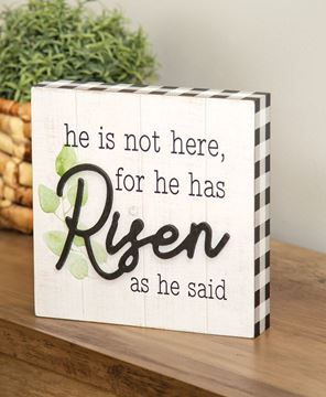 Picture of He Is Risen Box Sign