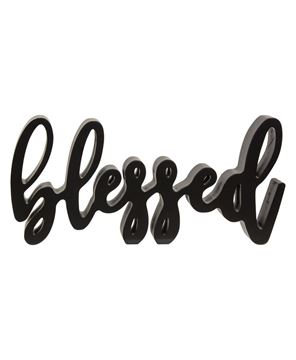 Picture of Blessed Script Word Shelf Sitter