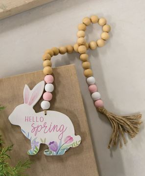 Picture of Hello Spring Wooden Bead Garland w/Bunny