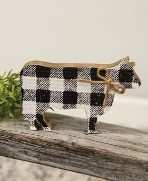 Picture of Black & White Buffalo Check Chunky Cow