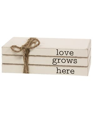 Picture of Love Grows Here Stacked Books