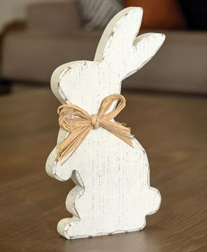 Picture of Distressed Cream Standing Chunky Bunny