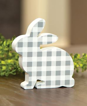 Picture of Gray & White Buffalo Check Chunky Bunny