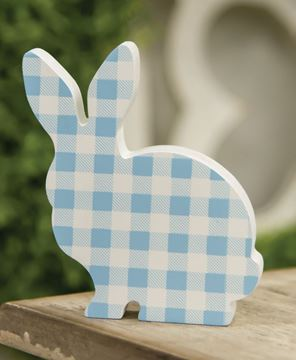 Picture of Blue & White Buffalo Check Chunky Bunny