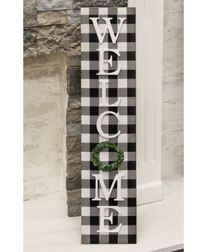 Picture of Buffalo Check Welcome Sign w/Easel