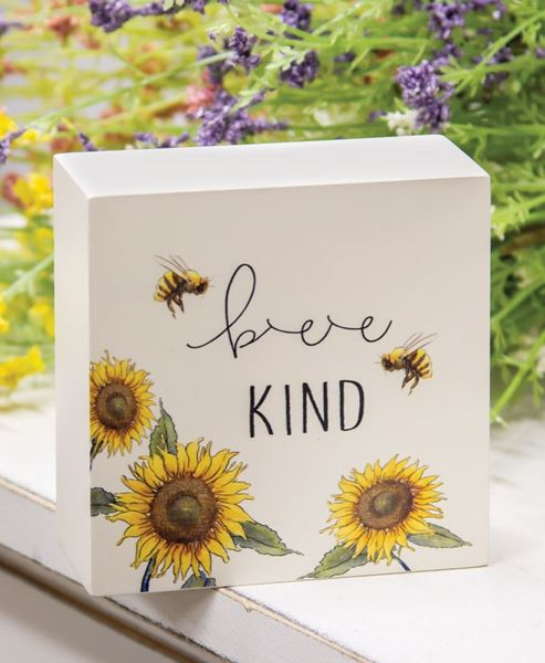 Picture of Bee Kind Sunflower Box Sign