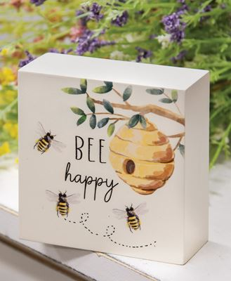 Picture of Bee Happy Beehive Box Sign