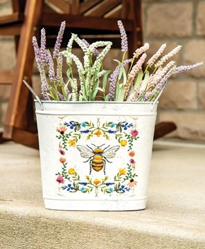 Picture of Honeybee Floral Oval Bucket