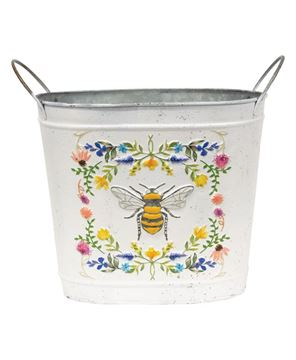 Picture of Honeybee Floral Oval Bucket