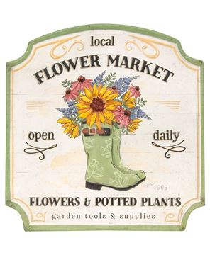 Picture of Local Flower Market Open Daily Metal Sign