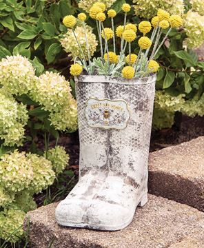 Picture of Sweet Bee Honey Metal Boots Planter