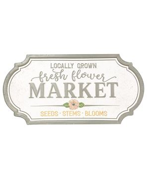 Picture of Locally Grown Fresh Flower Market Metal Sign