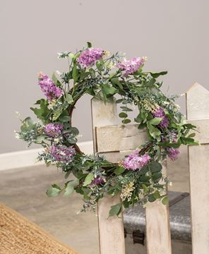 Picture of Purple Wildflowers Wreath, 24""