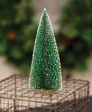 Picture of Snowy Bottle Brush Tree, 7""
