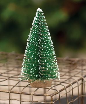 Picture of Snowy Bottle Brush Tree, 4""