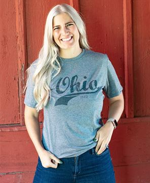 Picture of Ohio Swoosh T-Shirt, Heather Graphite, XXL