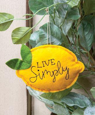 Picture of Live Simply Felt Lemon Ornament