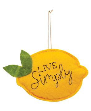 Picture of Live Simply Felt Lemon Ornament
