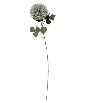 "Picture of Pompom Flower Spray, 22"", Antique Blue"