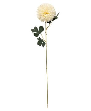 "Picture of Pompom Flower Spray, 22"", Cream"