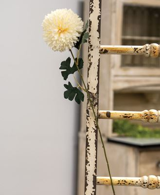 "Picture of Pompom Flower Spray, 22"", Cream"