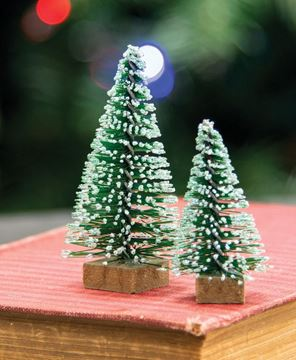 Picture of Mini Frosty Bottle Brush Trees, 12/Set