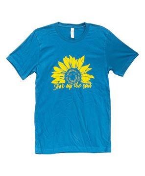Picture of Soak Up The Sun T-Shirt, Heather Deep Teal, XXL