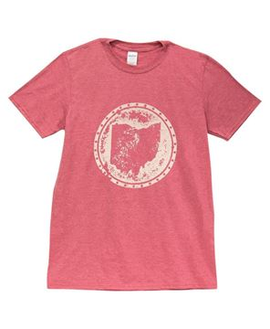 Picture of Distressed Ohio T-shirt, Heather Red, XXL