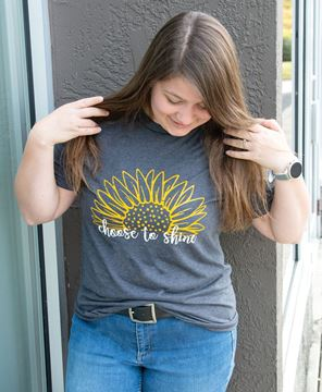 Picture of Choose To Shine Sunflower T-Shirt