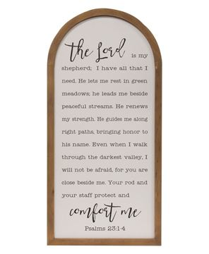 Picture of Psalm 23 Arch Sign