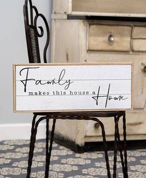 Picture of Family Makes This House a Home Shiplap Box Sign