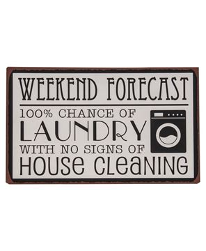 Picture of Weekend Forecast Metal Sign