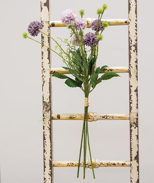 """Picture of Purple Wildflower & Thistle Spray, 24"""""""