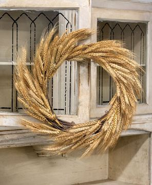 Picture of Natural Twig & Wheat Wreath, 20""