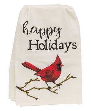 Picture of Happy Holidays Cardinal Dish Towel