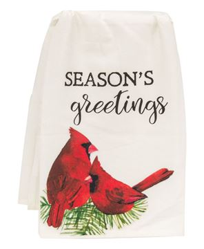 Picture of Season's Greetings Cardinal Dish Towel