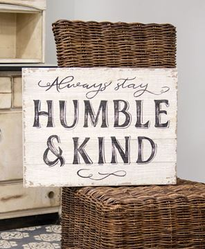 Picture of Humble & Kind Distressed Wood Sign