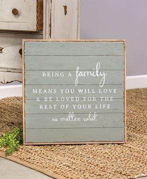 Picture of Being a Family Distressed Shiplap Sign