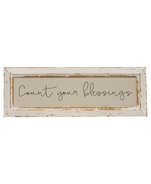 Picture of Count Your Blessings Distressed Frame w/Holder